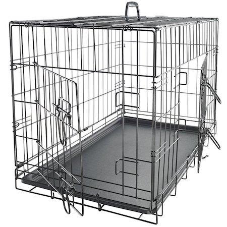 OxGord 42 XXL Dog Crate, Double-Doors Folding Metal w: Divider & Tray