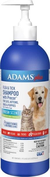 Adams Plus Flea & Tick Shampoo with Precor for Dogs and Cats-min