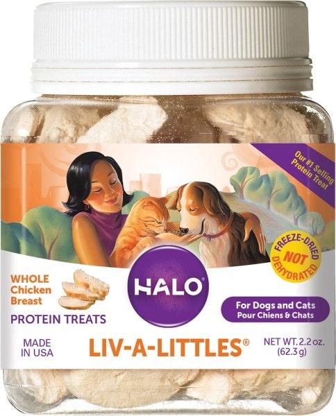 Halo Liv-a-Littles Grain-Free Chicken Breast Treats-min