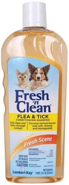 Lambert Kay Fresh 'n Clean Flea and Tick Small Pet Conditioning Shampoo-min