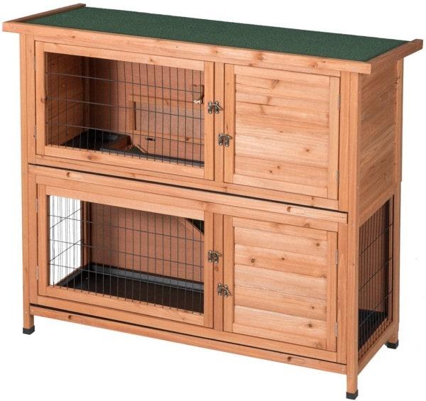 Good Life Two Floor Wooden Rabbit Cage-min