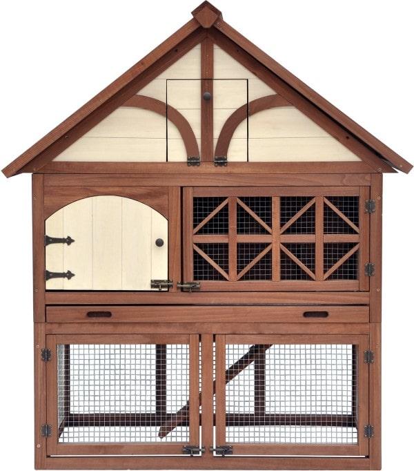 Merry Products Tudor Decorative Rabbit Hutch-min