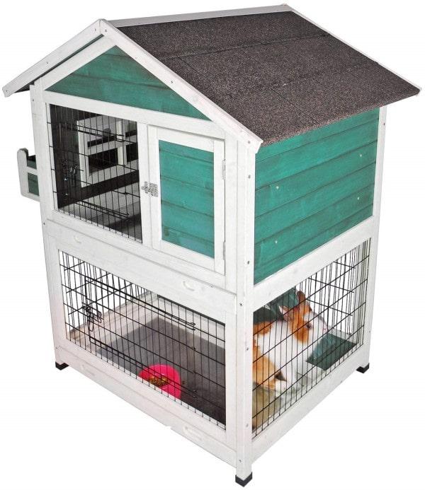 Petsfit Outdoor Rabbit Hutch-min