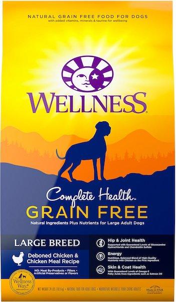 Wellness Grain-Free Complete Health Large Breed Adult Dry Dog Food-min
