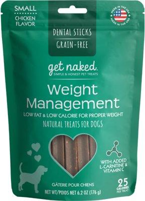 Get Naked Weight Management Grain-Free Dental Stick Dog Treats